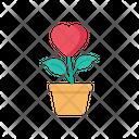 Mindset Heart Plant Pot Icon
