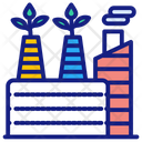 Plant Recycling Factory Pollution Icon