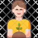 Planting Man Plant Icon