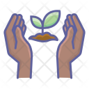 Nature Planting Finger Icon