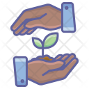 Planting Nature Finger Icon