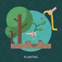Planting Tree Grow Icon