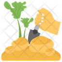Planting In Garden Cultivation Sprout Planting Icon
