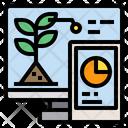 Monitor Smartphone Plants Icon