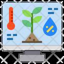 Monitor Temperature Plants Icon