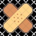 Band Aid Bandage Color Icon