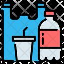 Plastic Bottle Glass Icon