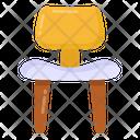 Plastic Armless Chair Icon