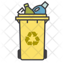 Plastic Bin Ecology Recycling Icon