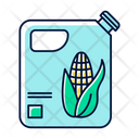 Plastic Bottle Of Corn Oil Icon