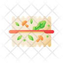 Plastic Box With Vegetables Food Takeaway Icon