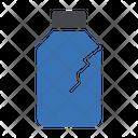 Plastic Broken Bottle Icon