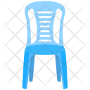 Plastic Chair Blue Icon
