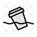 Plastic Cup Pollution Icon