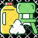 Plastic Bottle Lumber Icon
