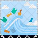 Plastic Wave Garbage Icon
