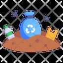 Landfill Land Pollution Soil Pollution Icon