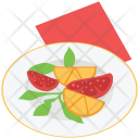 Plate Food Fruits Icon