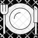 Plate Knife Restaurant Icon