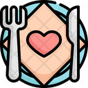 Plate Wedding Marriage Icon