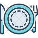 Plate Setting Fork Icon