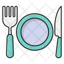 Plate Knife Fork Icon