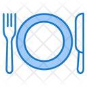 Plate Fork Food Icon