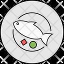Plate Fish Restaurant Icon
