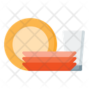 Plates And Glass Icon