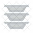 Plates Stack Kitchen Cooking Icon