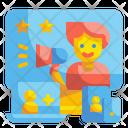 Platforms Communication Marketing Icon