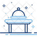 Platter Food Restaurant Serving Dinner Kitchen Meal Icon