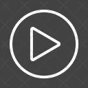 Play Button Music Icon