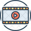 Play Press Video Icon