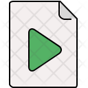File Play Document Icon