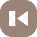 Play Back Button Square Icon