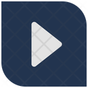Play Filled Square Button Play Player Icon