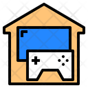 House Game Controler Stay At Home Icon