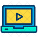 Laptop Play Media Play Video Icon