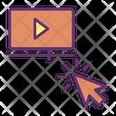 Click Play Play Movie Click Icon