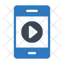 Mobile Phone Play Icon