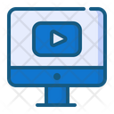 Play Video Marketing Seo Icon