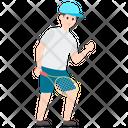 Player Sportswoman Badminton Player Icon