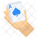 Players Blue Spade Hand Icon