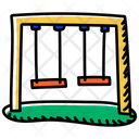 Garden Swing Playground Swing Icon