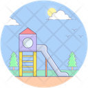 Playground Slide Amusement Park Kids Park Icon