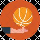 Playing Basketball Icon