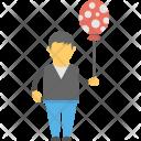 Playing Boy Balloon Icon
