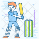 Playing Cricket Icon