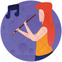 Playing Flute Icon